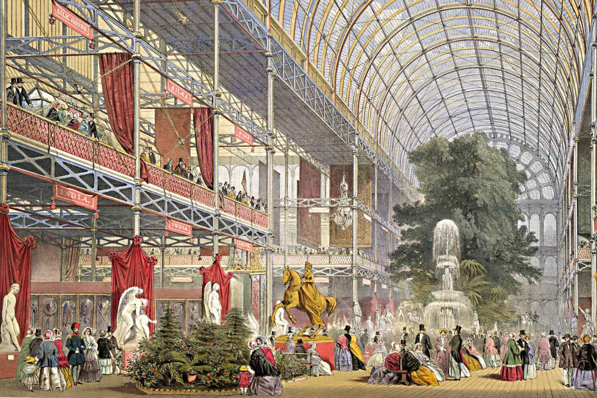 Scene from within the Crystal Palace. From a contemporary image