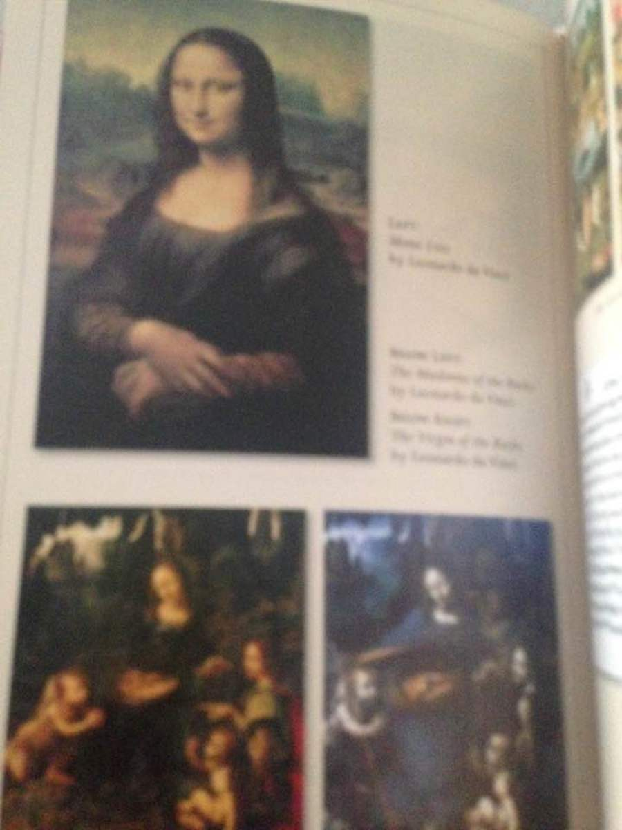 "Photos from the 8-page photo insert in adapted ""The Da Vinci Code"""