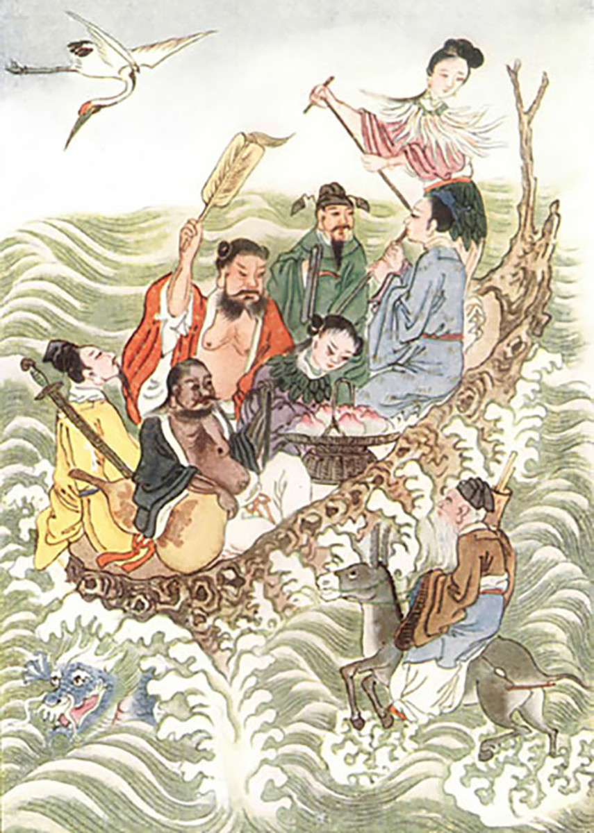 The Eight Immortals is a very popular motif in Chinese art.