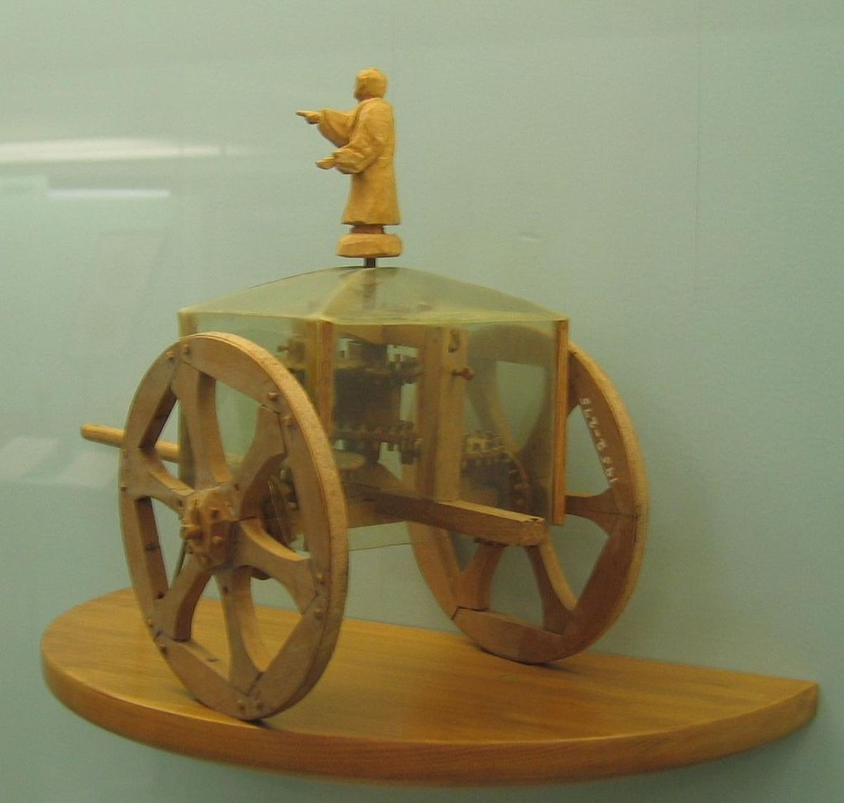 Model of a Zhi Nan Che displayed at the Science Museum in London.