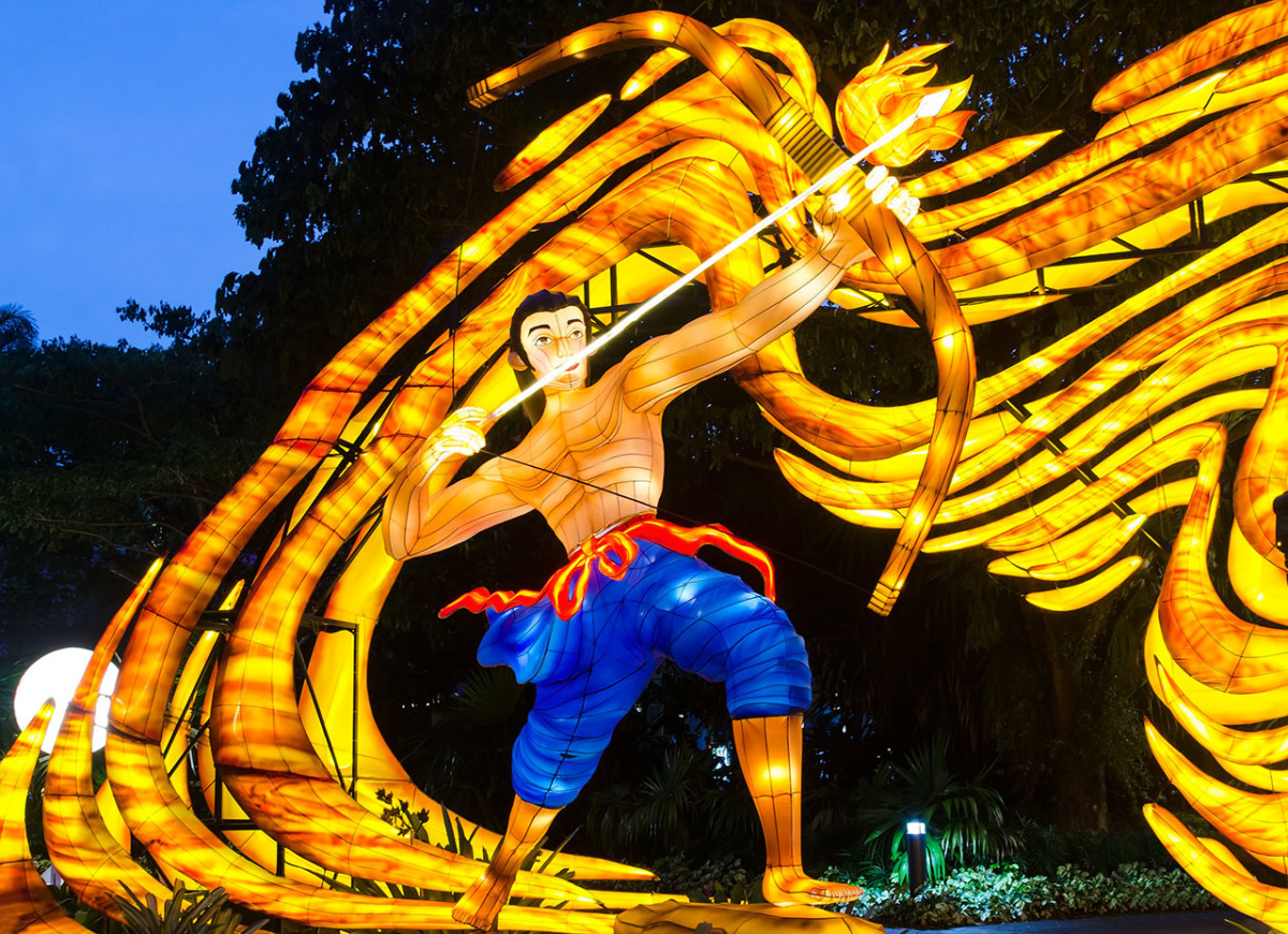 Hou Yi, the Chinese mythological hero who saved the world, but forever lost his wife.