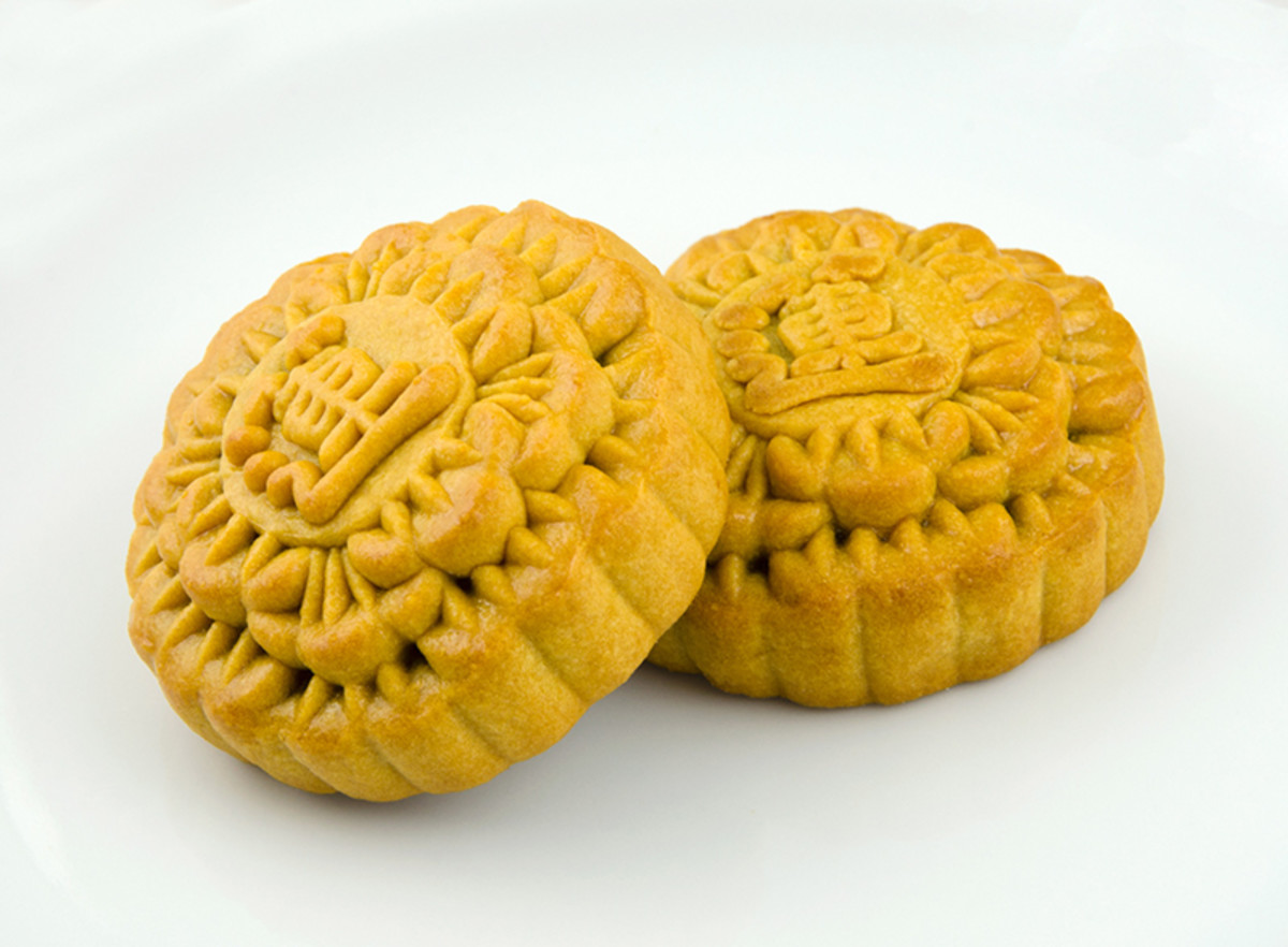Traditional Chinese mooncakes. Nowadays, mooncakes come with all sorts of fillings and crusts.