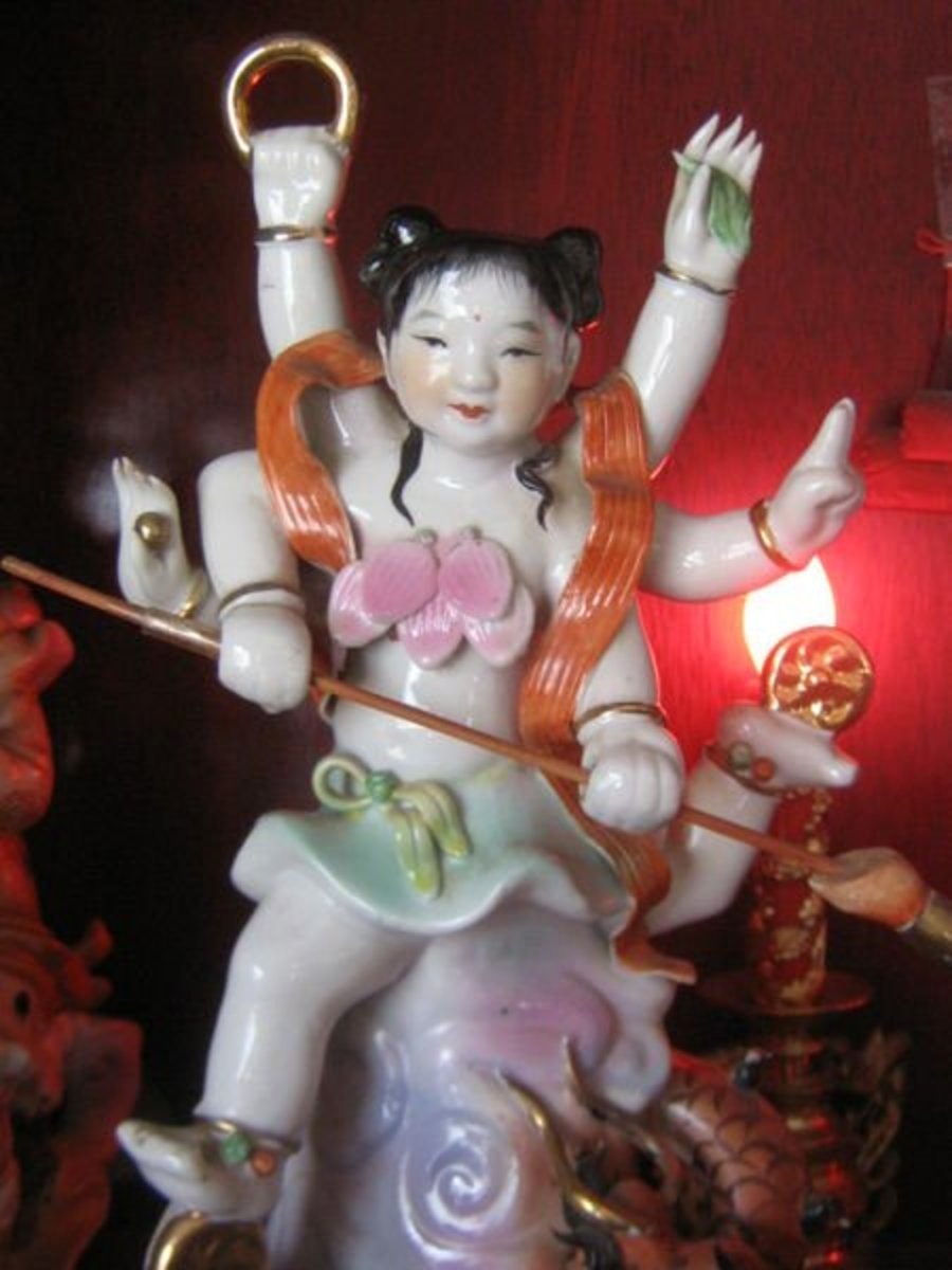 Nezha is worshiped by many Taoists today as San Taizi, or the Third Prince.