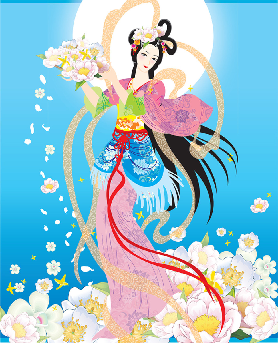 Artistic depiction of Chang' e.