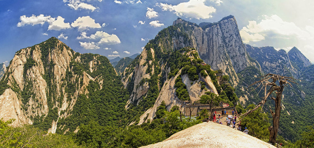 Majestic Mount Hua. Prominent in both Chinese myths and Wuxia stories.