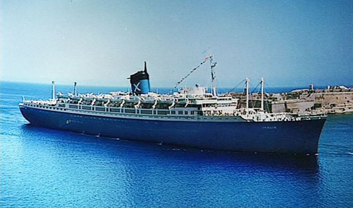 SS Italis as a hotel ship.