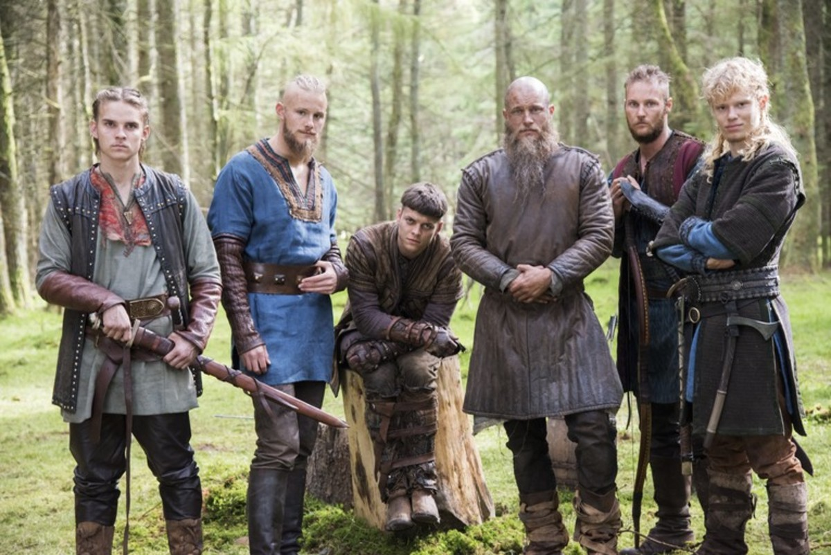Ragnar Lothbrok and sons Hvirtsek, Bjorn, Ivan Ubbe, and Sigurd