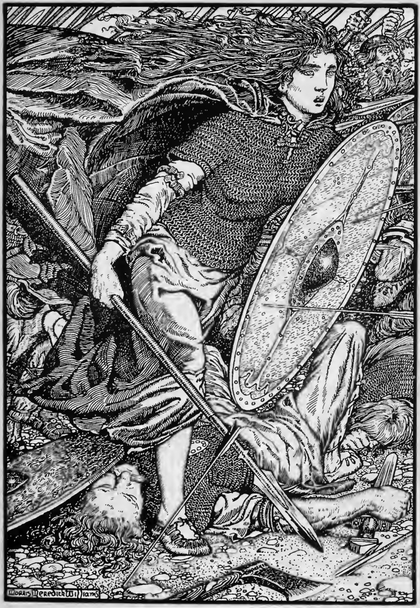 Lagertha, lithography by Morris Meredith Williams (1913)