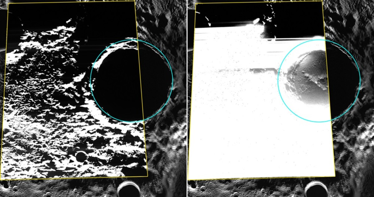 The first optical images of crater ice.
