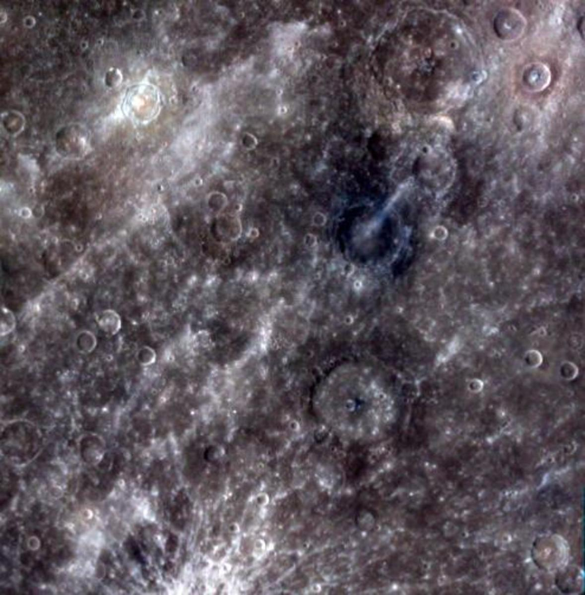 Composite image from 11 different filters highlighting the diversity of the surface.
