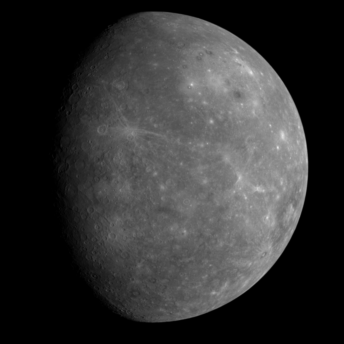 First picture of the far side of Mercury.