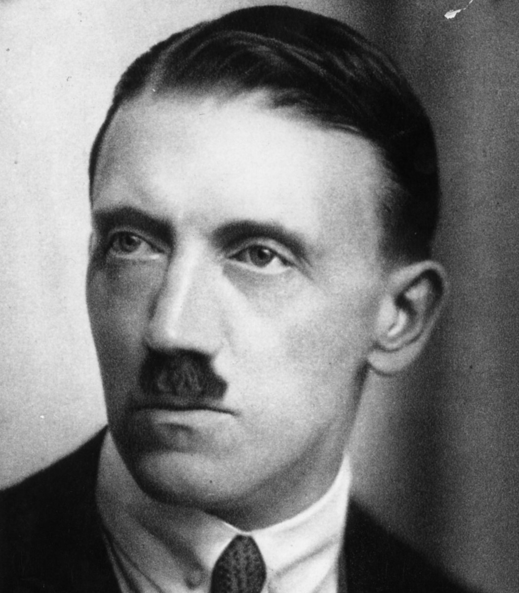 Adolf Hitler: born 20 April 1889 died 30 April 1945 was the leader of the Nazi Party who developed the racial theory of an aryan master race as an ideology for Germany and beyond