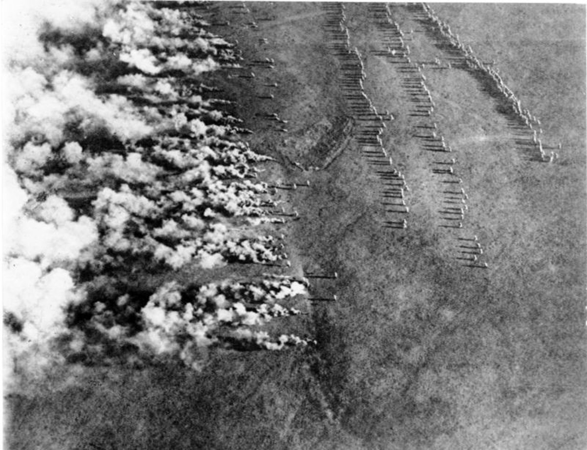 German poison gas attack Western Front 1916.