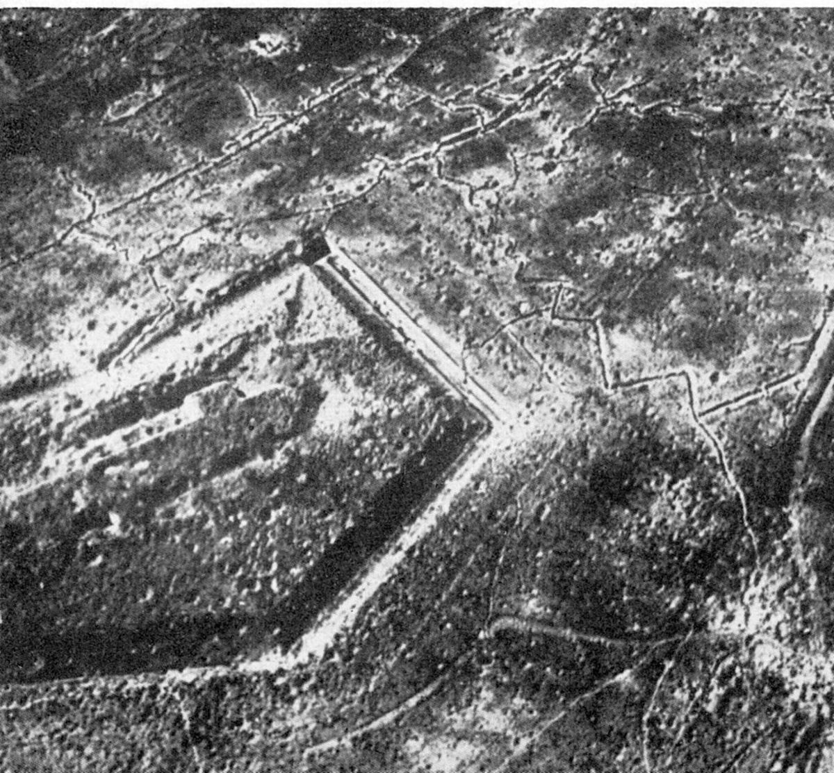 Fort Douaumont at the end of the First World War.