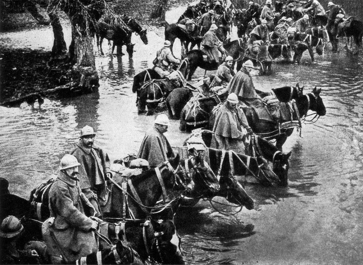 French cavalry near the Battle of Verdun 1916.