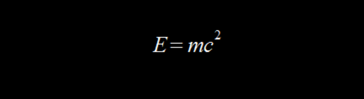 Einstein's energy-mass equivalence equation.