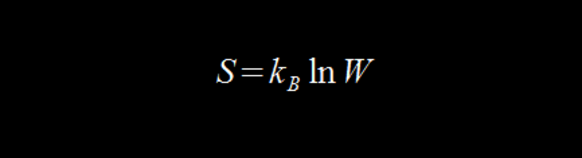 Boltzmann's entropy equation.