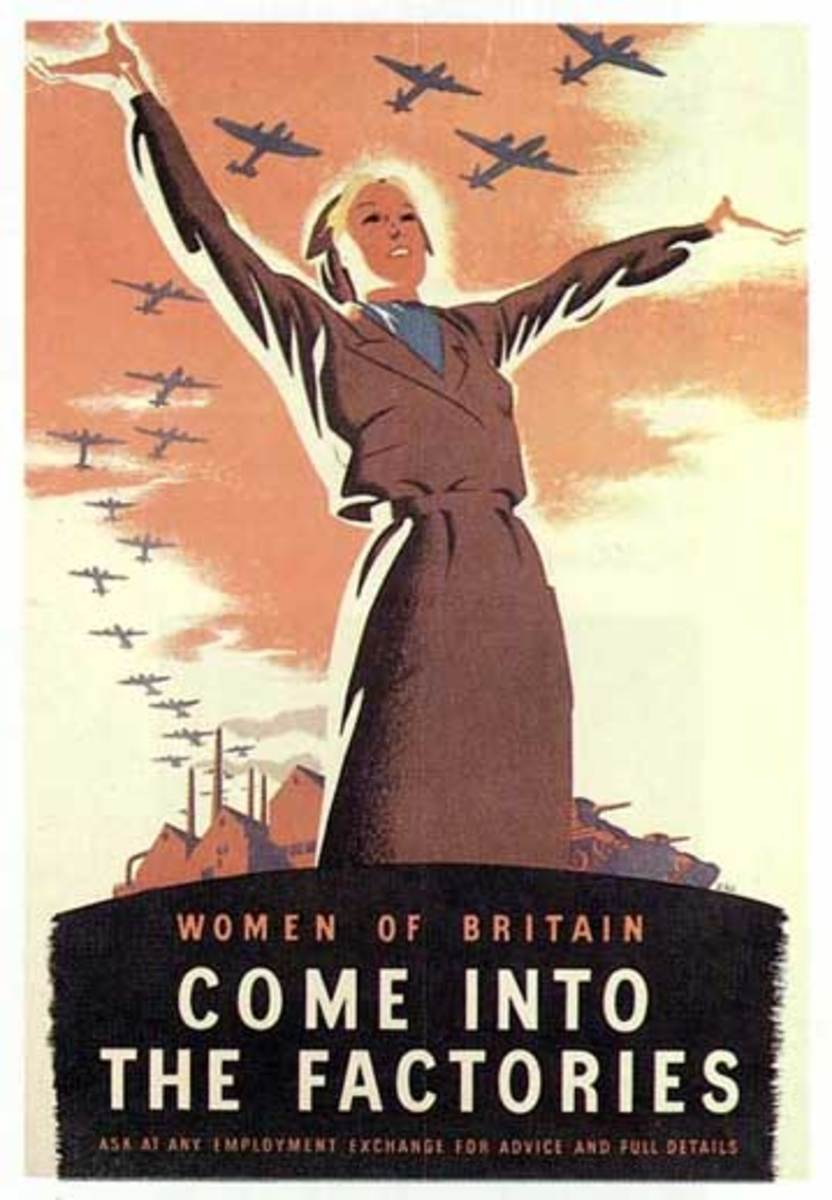 Women's Propaganda Poster, World War Two