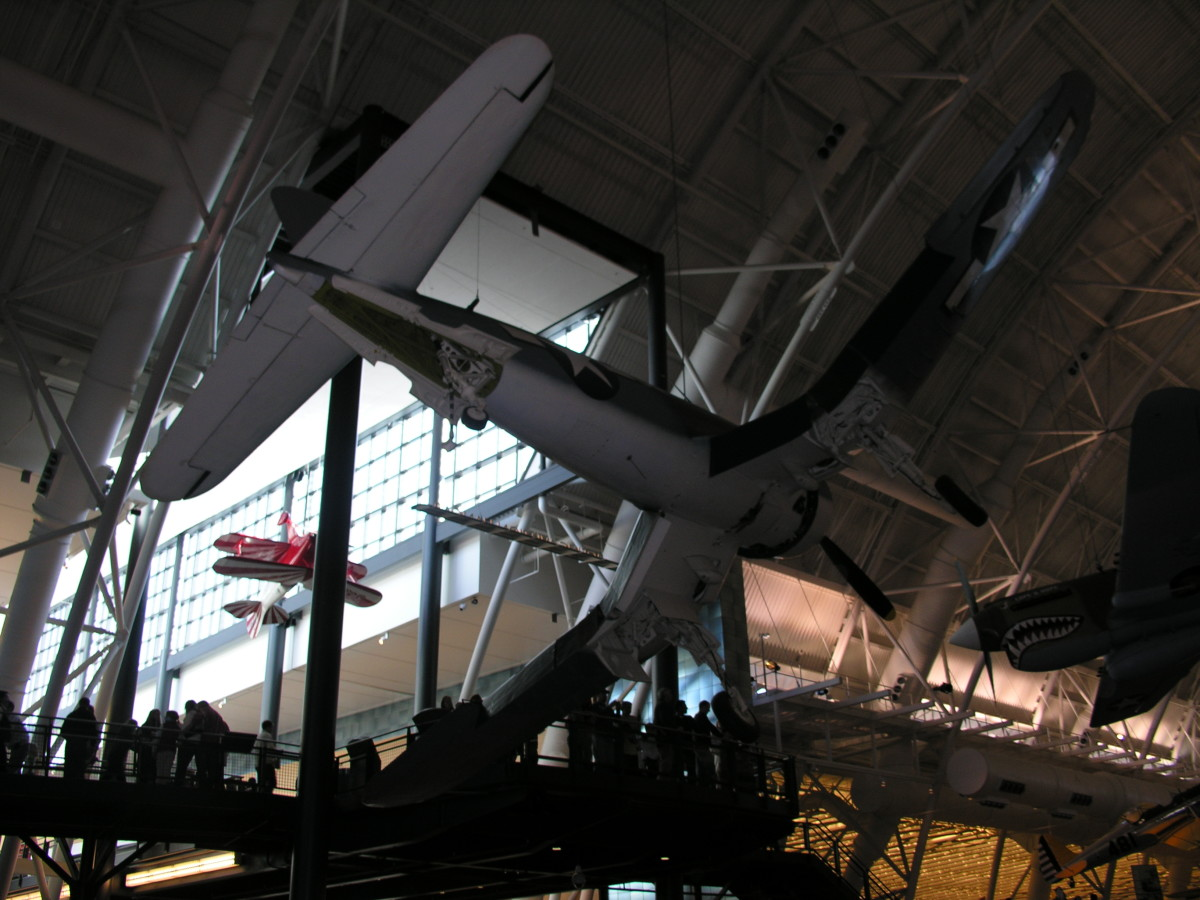 The Corsair at the Udvar-Hazy Center, Dulles IAP, Virginia.