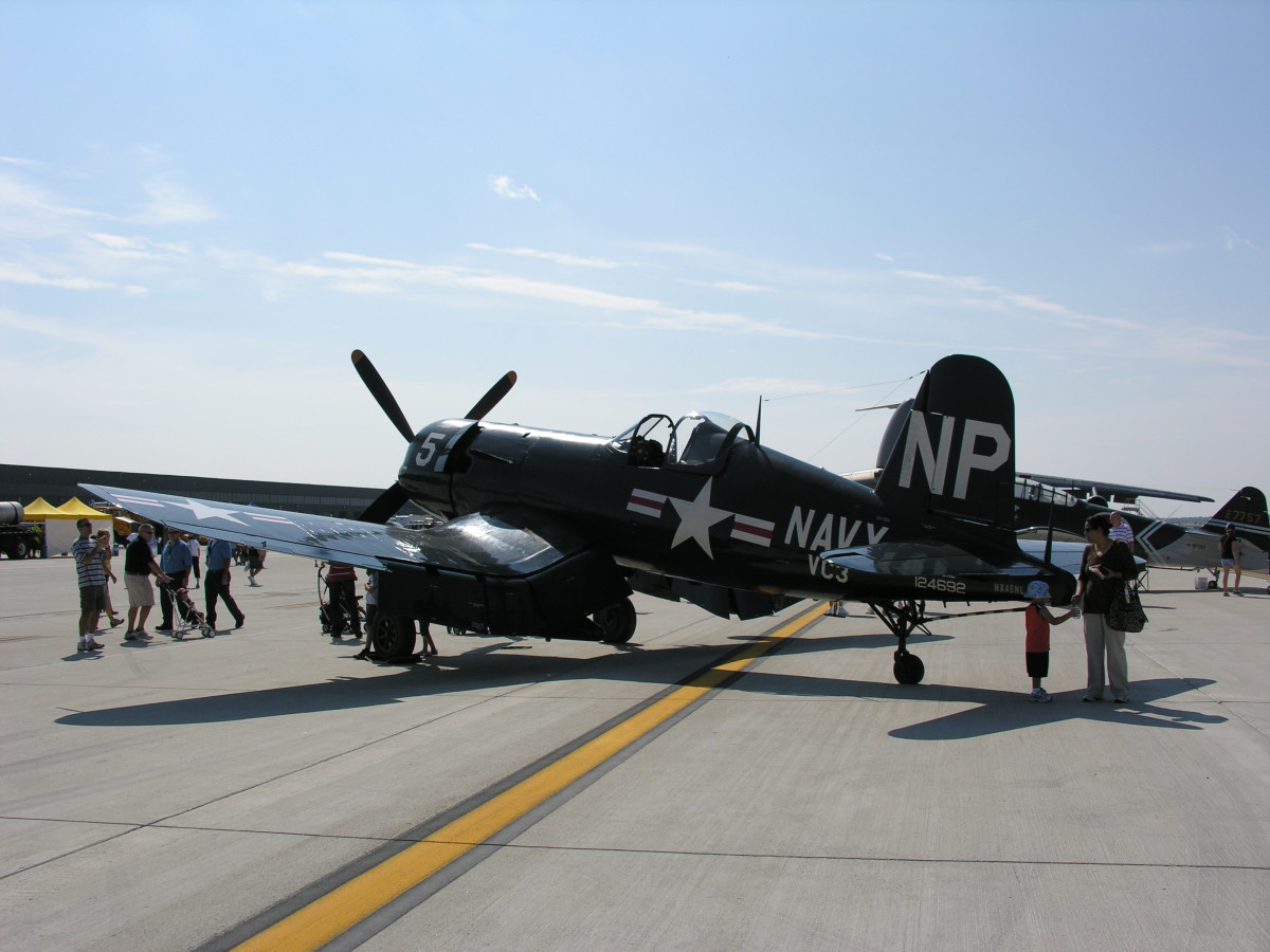 F-4U-5NL Corsair Bu. Number 124692 at the Dulles Day Plane Pull, September 2010.