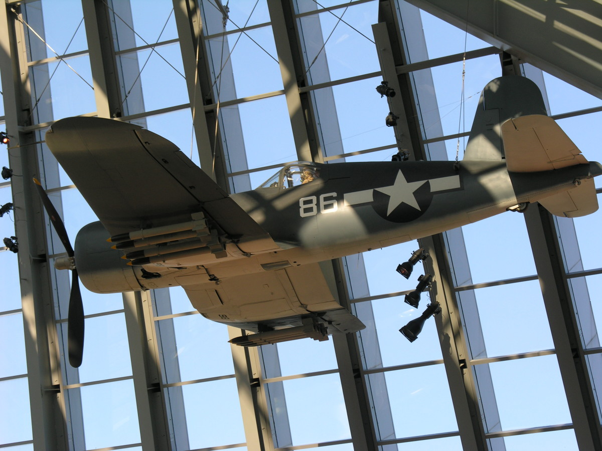 A Corsair at the Marine Corps Museum, Quantico, VA, 2009.