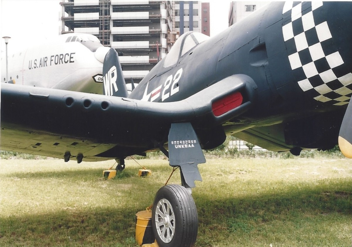 An F4U Corsair on Yoido Island, Seoul, Korea, 1991.