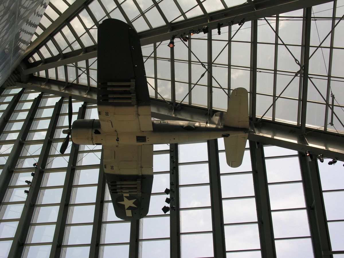 A Corsair at the Marine Corps Museum, Quantico, Virginia.