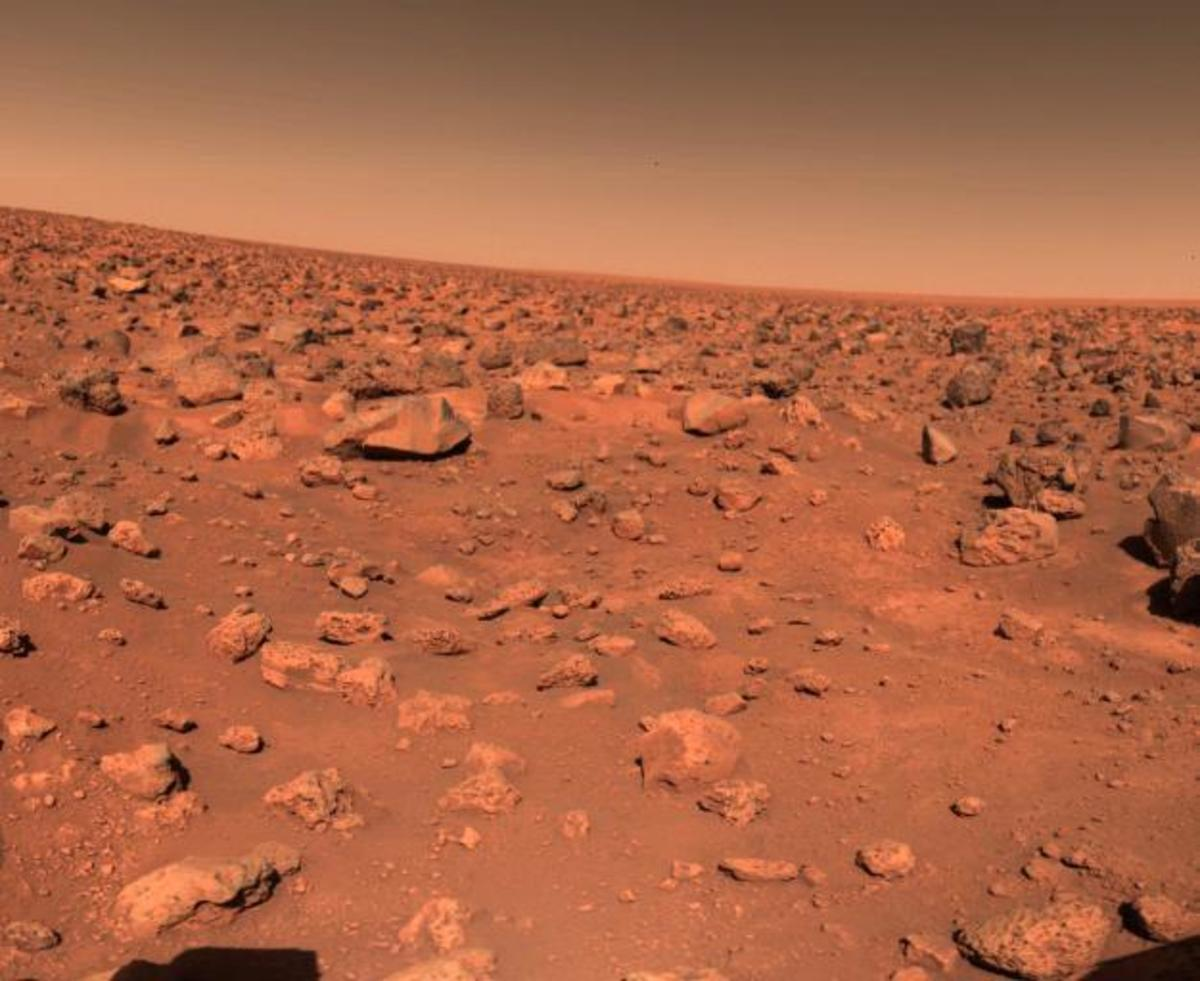 The surface of the red planet