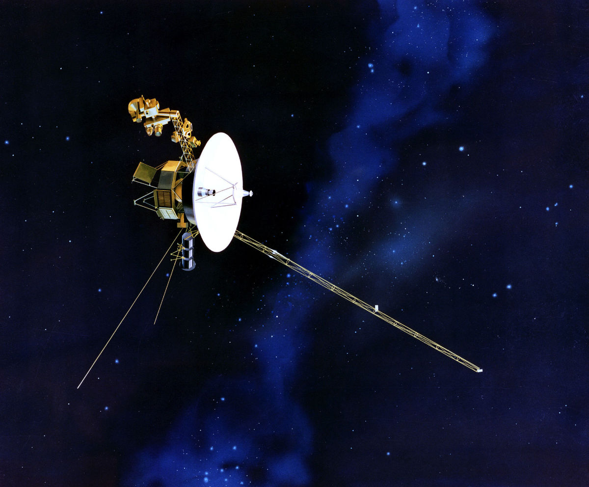 Voyager 2 in outer space