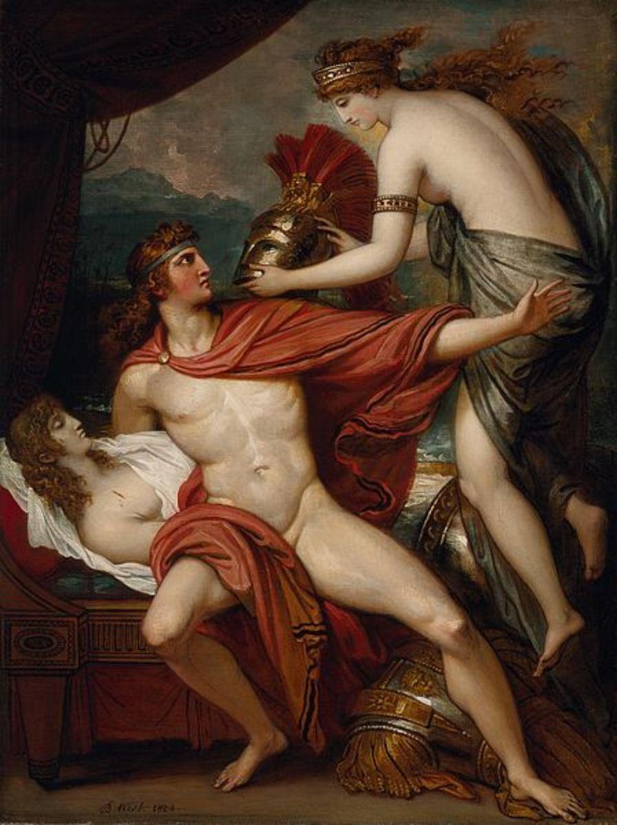 'Thetis Bringing Armor to Achilles', Benjamin West, 1804.