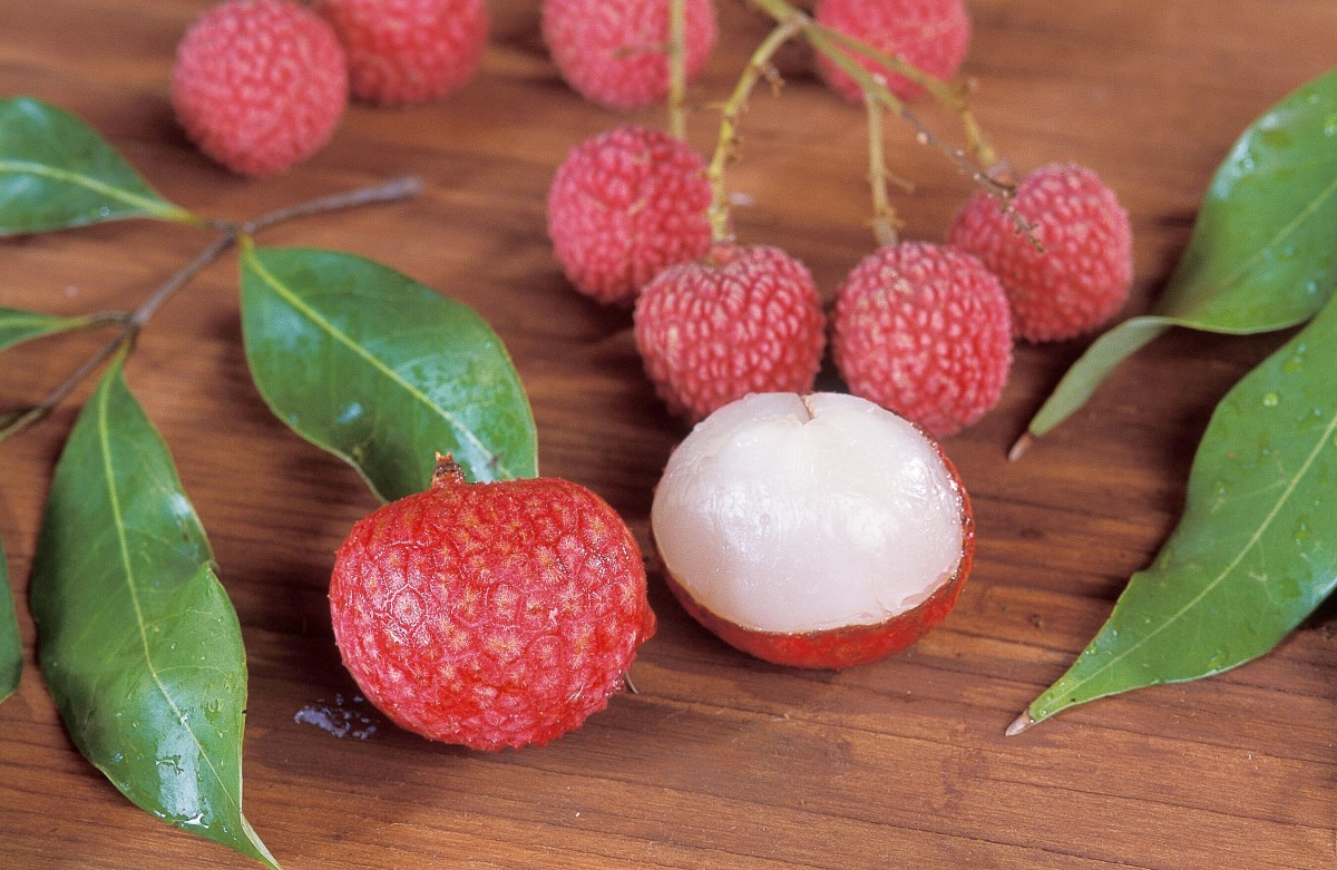 The flesh of a lychee is translucent.