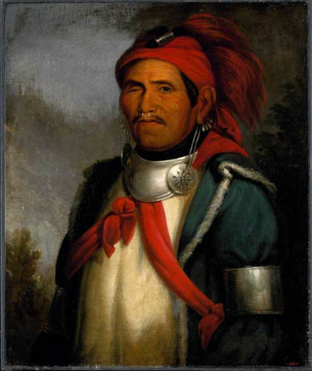 Tenskwatawa, Tecumseh's younger brother also know as the Shawnee Prophet.