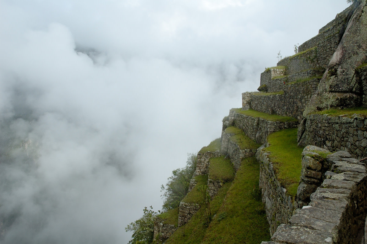 The Inca's used terracing to grow crops along the slopes of Machu Picchu