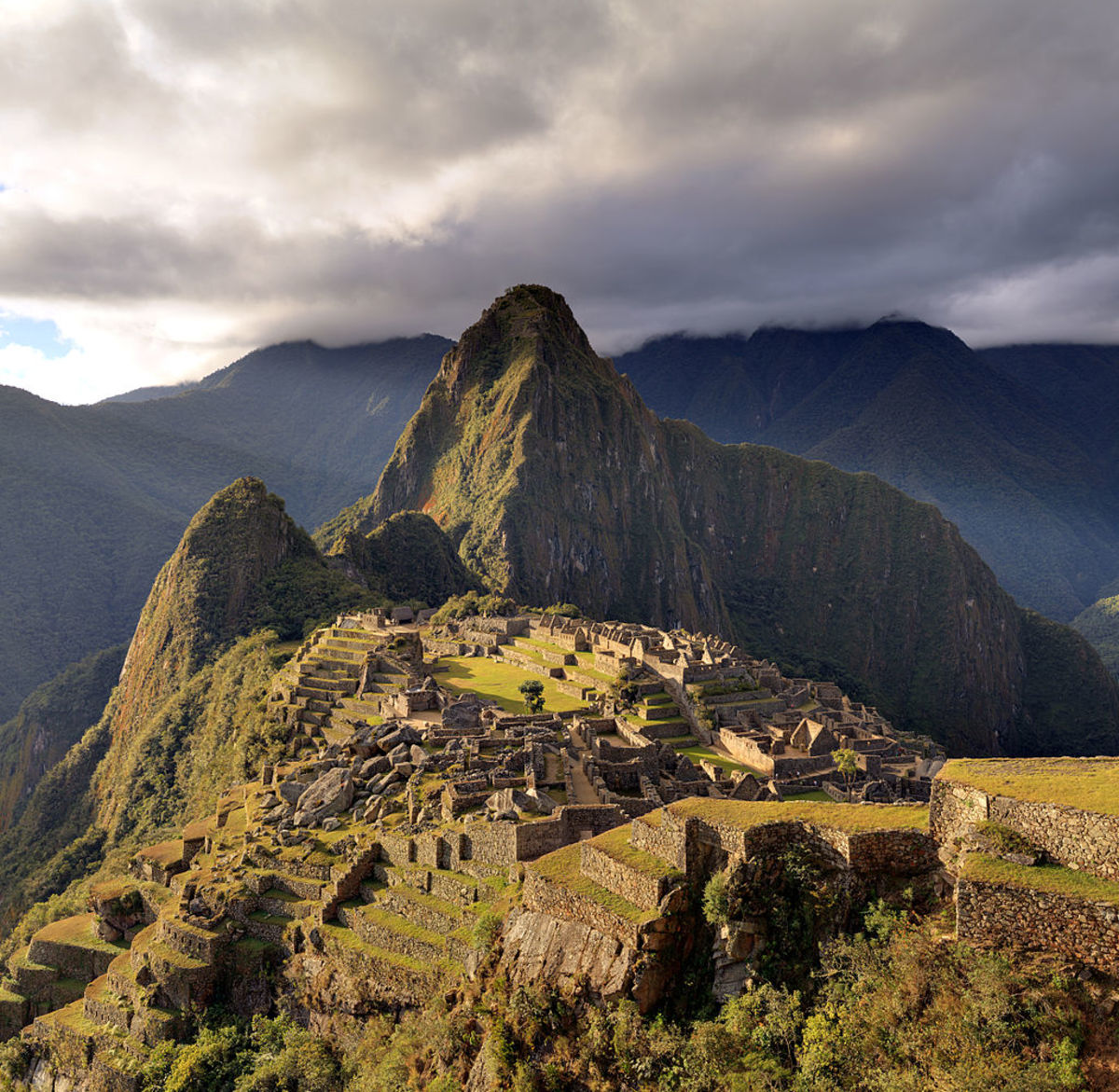 Machu Picchu a fifteenth- century Inca citadel situated on a mountain 7972 feet above sea level.