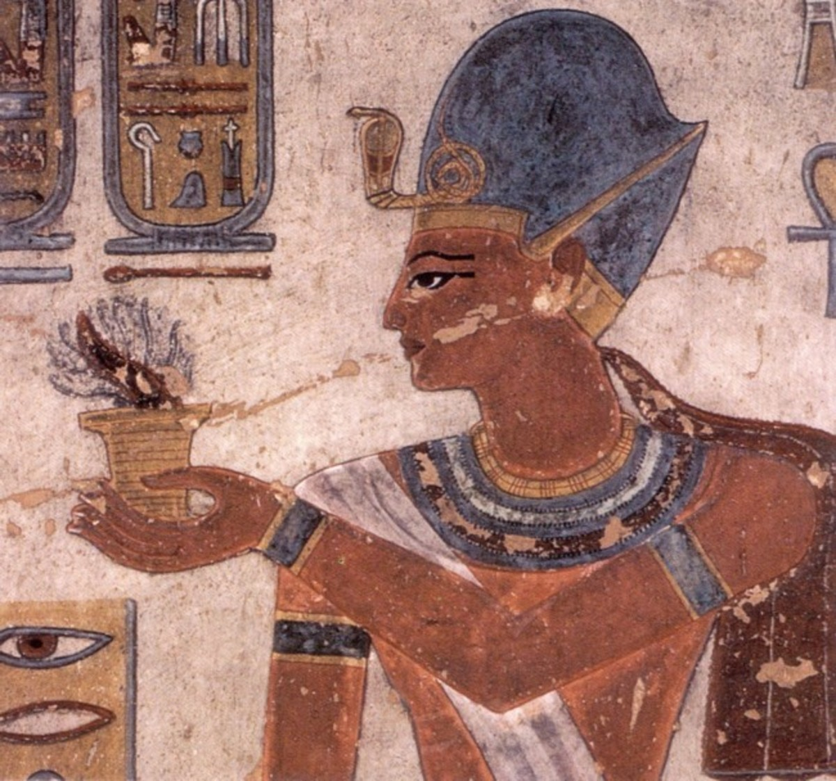 Ramesses III making an incense offering. From his Tomb  (KV11)