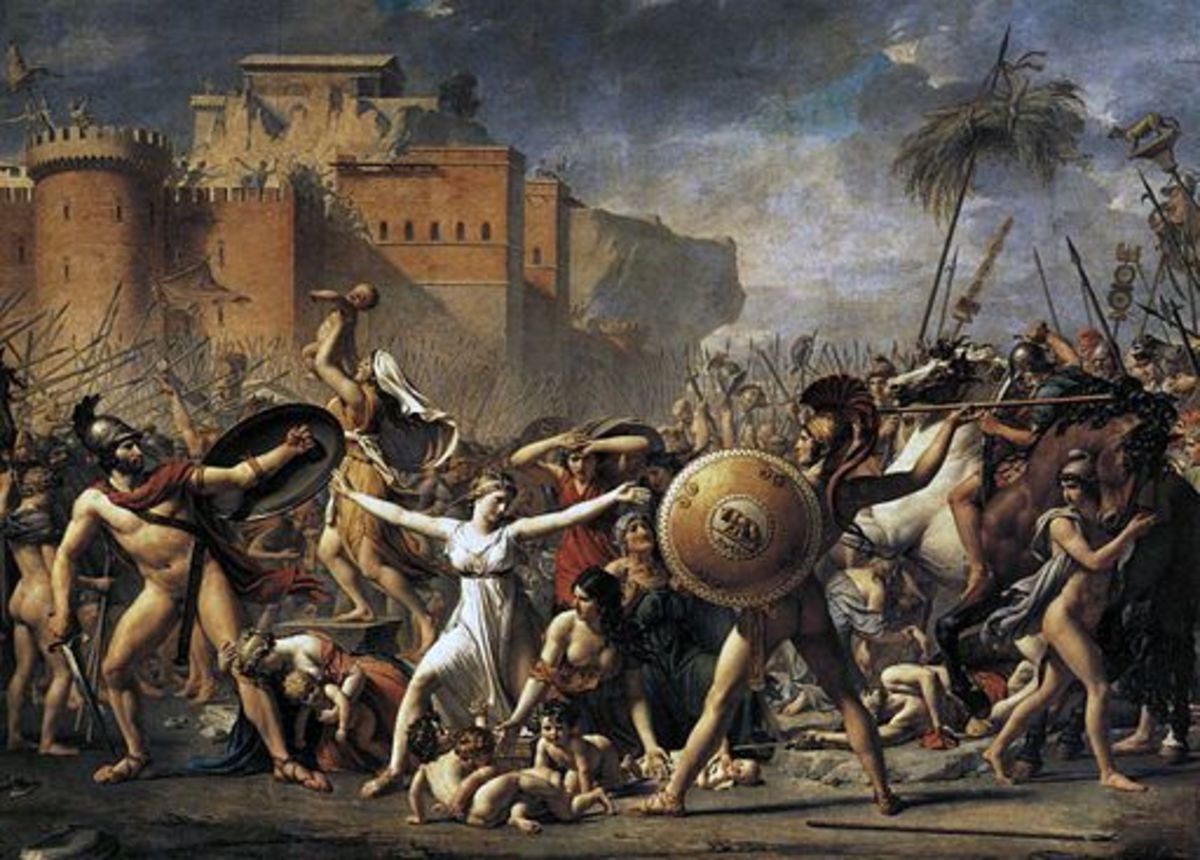 The Intervention of the Sabine Women, by Jacques-Louis David