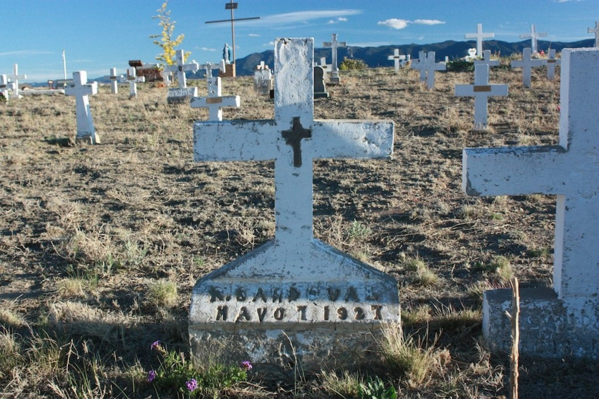 Hand-made headstones at the San Juan Bautista Cemetery