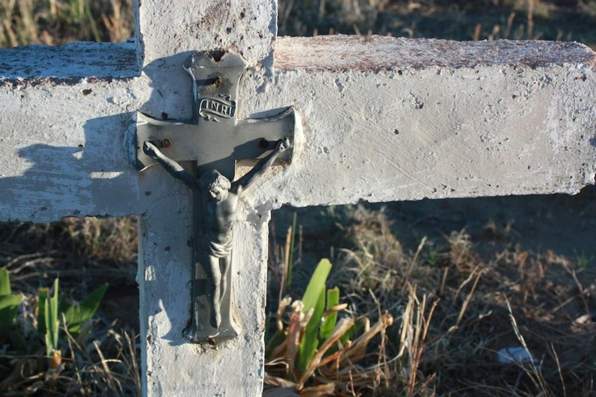 Hand-made headstone at the San Juan Bautista Cemetery