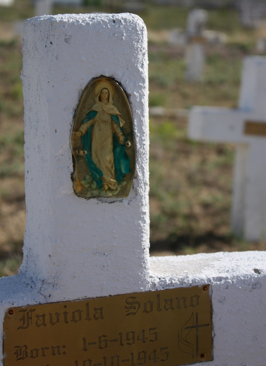 Hand-made headstone in the San Juan Bautista cemetery.