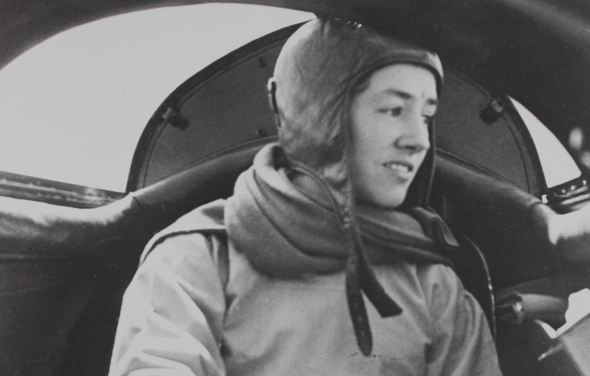 Anne Morrow Lindbergh during the period when she had accompanied him on a round-the-world survey flight in a Lockheed Sirius floatplane