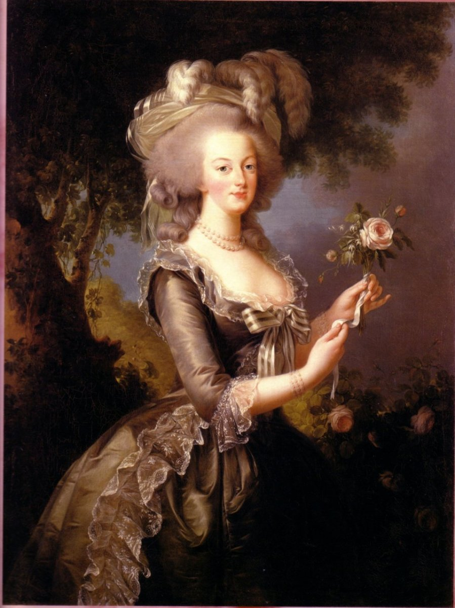 Portrait painting of Queen Marie Antoinette of France