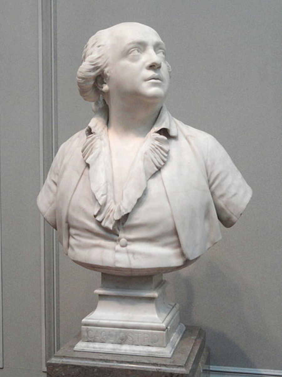 'Conte di Cagliostro', by Jean-Antoine Houdon, 1786, marble - National Gallery of Art, Washington, DC, USA