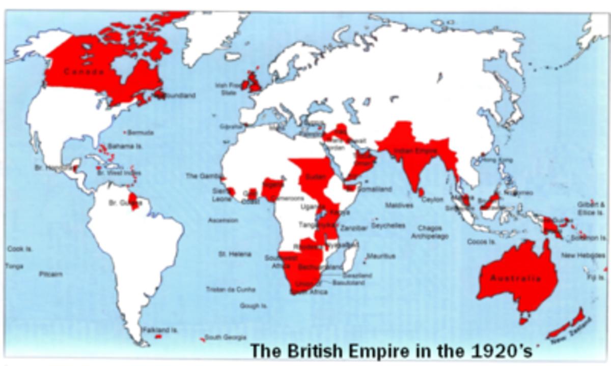 British Empire in the 1920s.