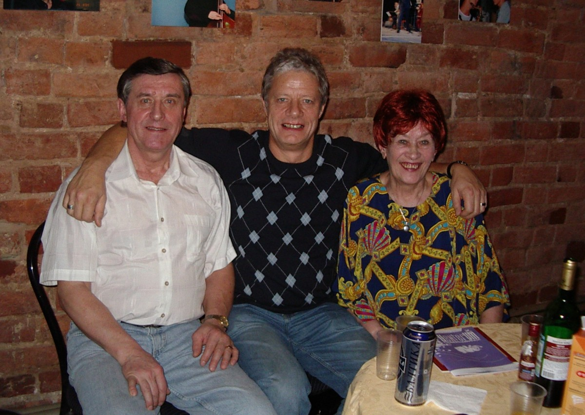 Inside a jazz club in Archangel in 2007.