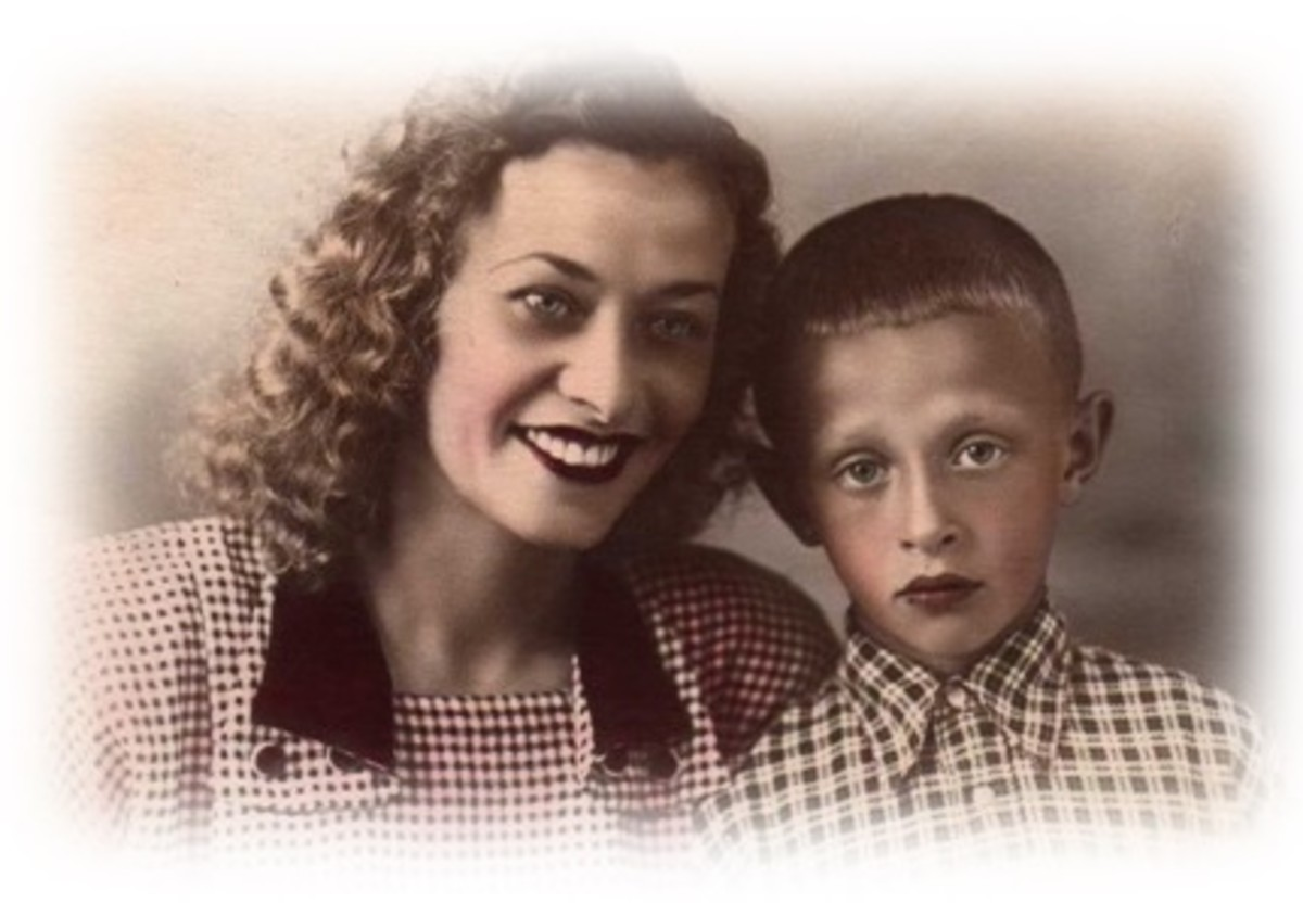 Reunited with son Stepan in 1954.