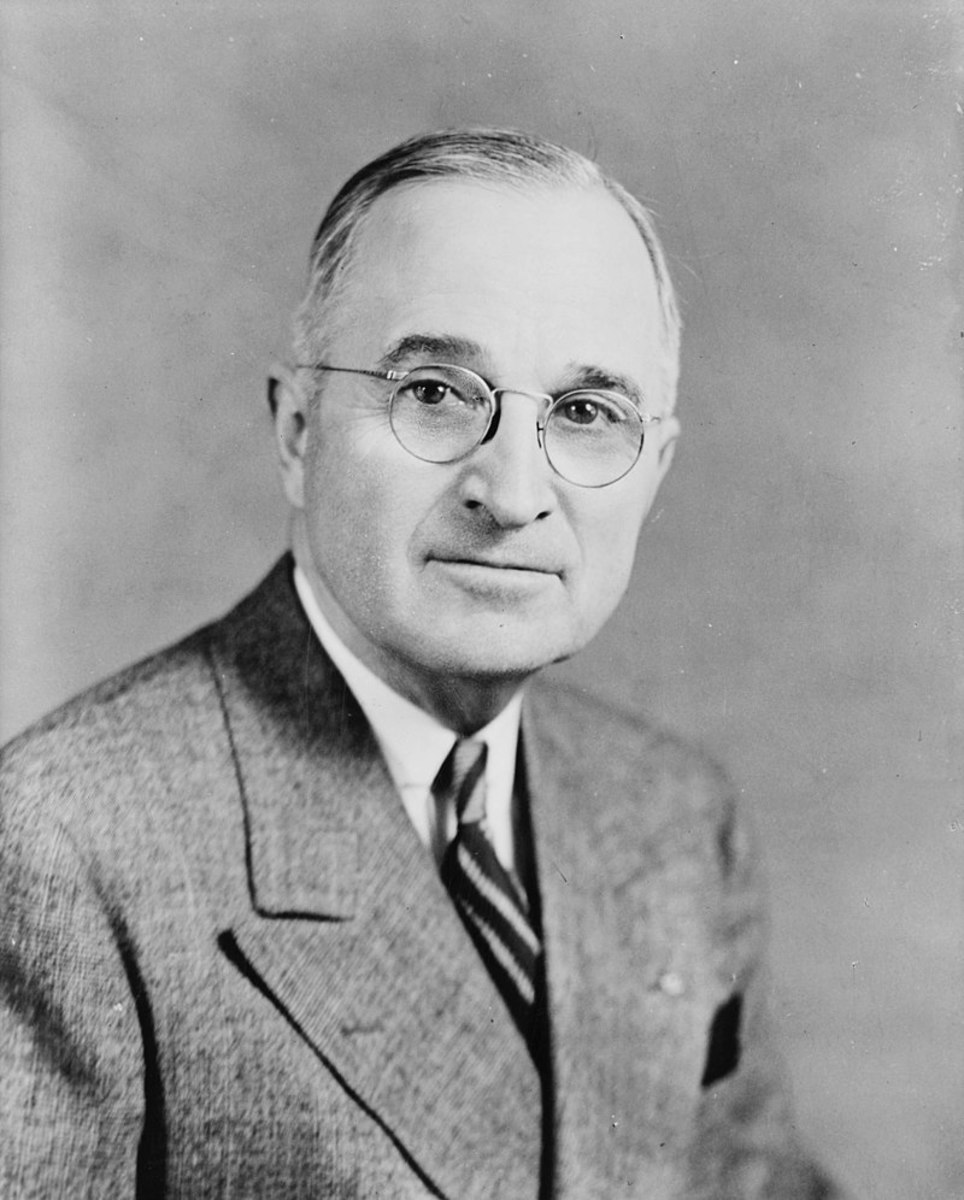 President Truman, who made the fateful decision to use the atomic bomb.