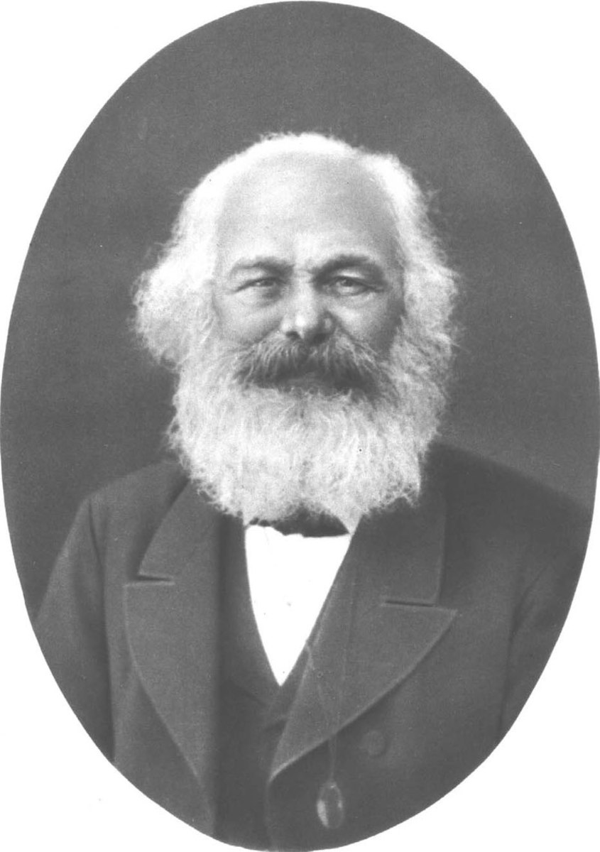 Portrait of Karl Marx in 1882.