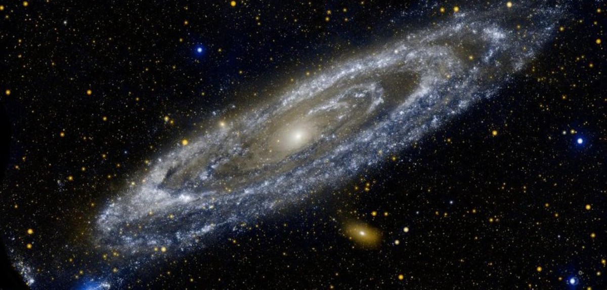 "One of the ""island universes"" seen, otherwise known as the Andromeda Galaxy."