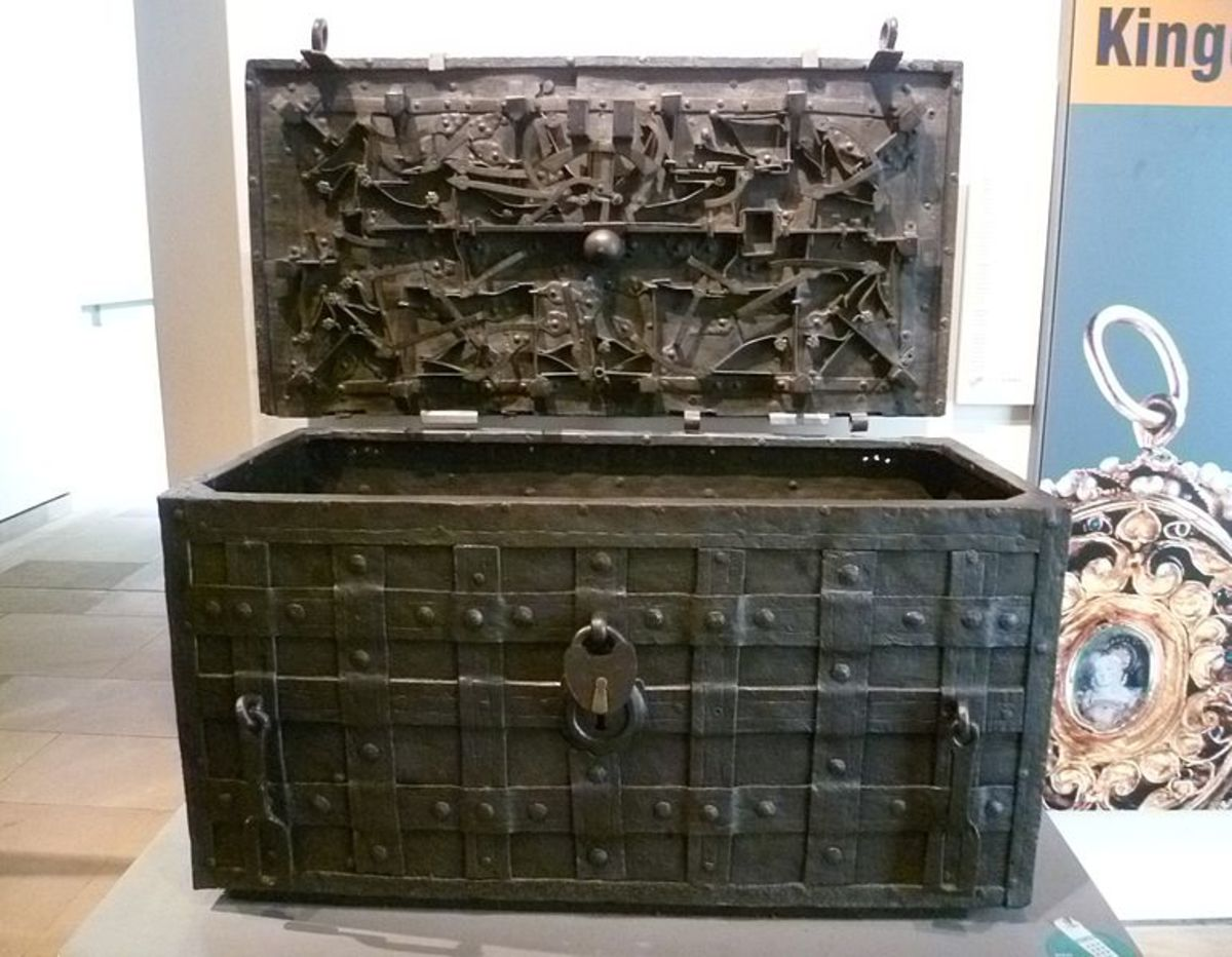 The elaborate chest that contained the documents of the Company of Scotland, the entity behind the Darien venture.