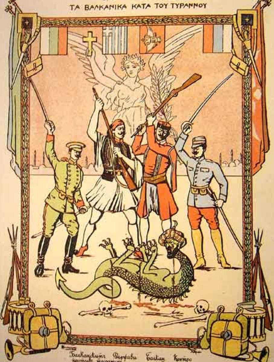 Balkan League Propaganda Poster